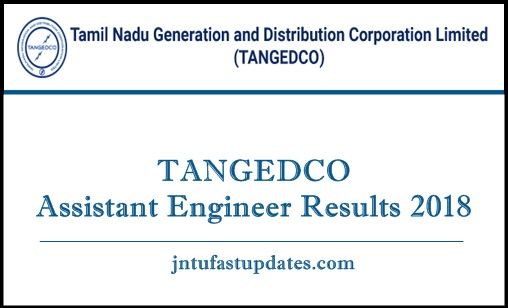 TANGEDCO Assistant Engineer Results 2018