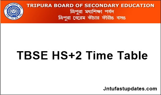 TBSE Higher Secondary Routine 2019
