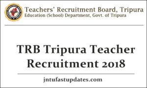 TRB Tripura Teacher Recruitment 2018