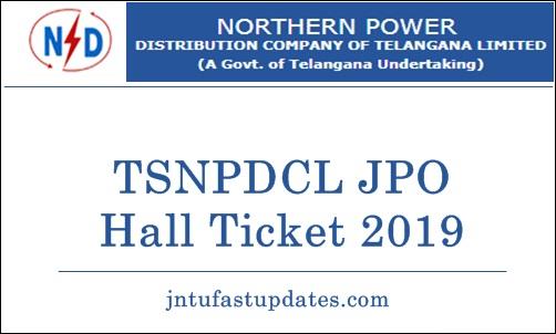 TSNPDCL JPO Hall Ticket 2019