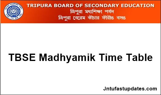 tbse-madhyamik-routine-2019
