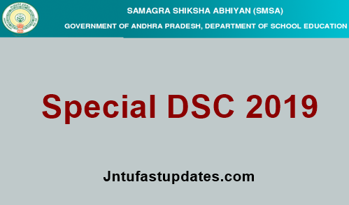 AP Special DSC Hall Ticket 2019