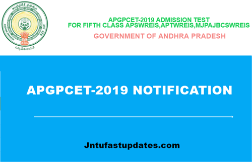 APGPCET 2019 Notification