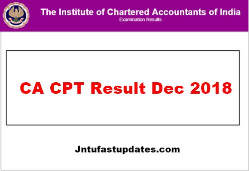 CA CPT Result Dec 2018