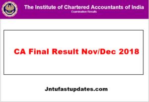 CA Final Result Nov 2018