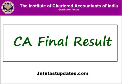 CA Final Result 2021
