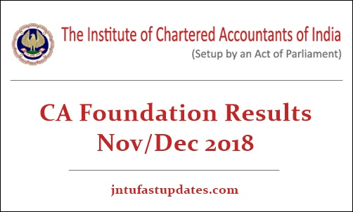 CA Foundation Results Nov Dec 2018