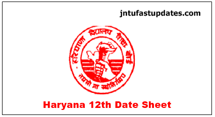HBSE-12th-Date-Sheet-2019