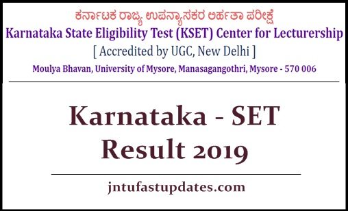 Karnataka - set results 2019