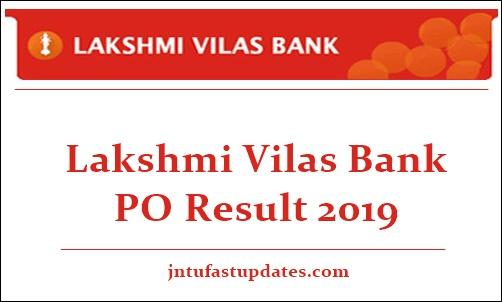 Lakshmi Vilas Bank PO Result 2019