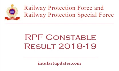 RPF Constable Result 2018 -19