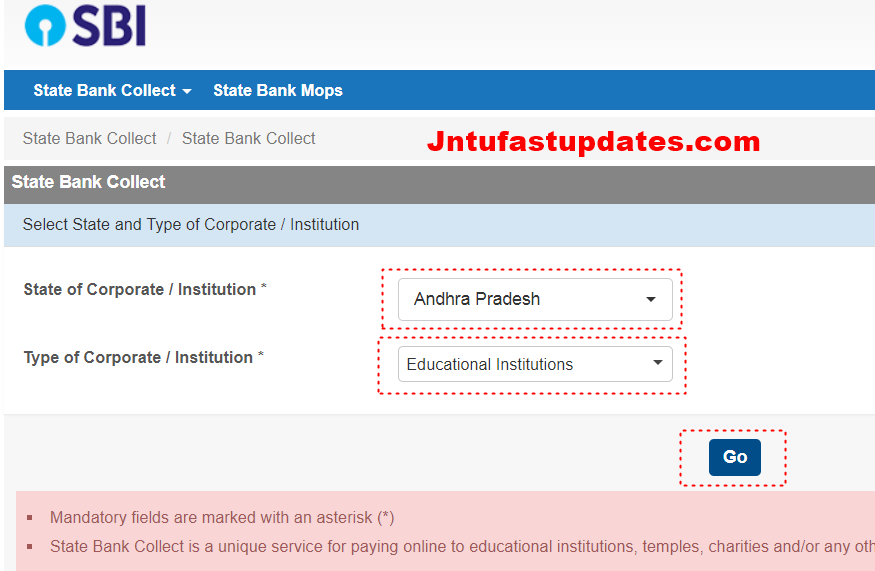 JNTUK Transcripts Apply Online - Transcripts Aplication form