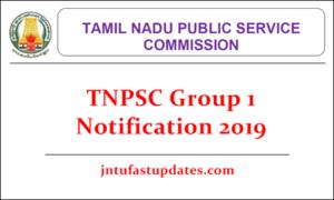 TNPSC Group 1 Notification 2019