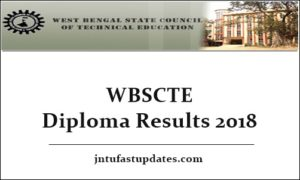 WBSCTE Diploma Results 2018