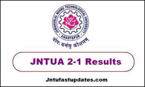jntua 2-1 results