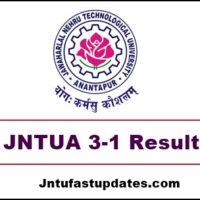 jntua 3-1 results