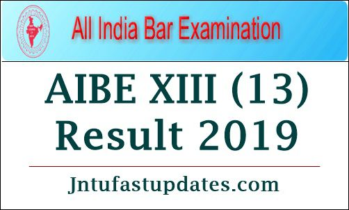 AIBE XIII (13) Result 2019