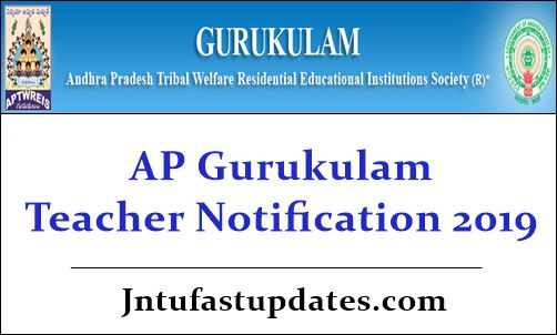 AP Gurukulam Teacher Notification 2019