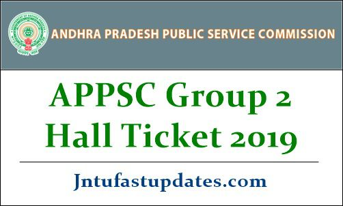 APPSC Group 2 Hall Ticket 2019