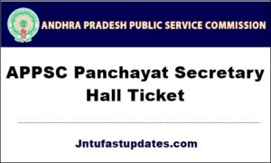 APPSC-Panchayat-Secretary-Hall-Ticket-2019