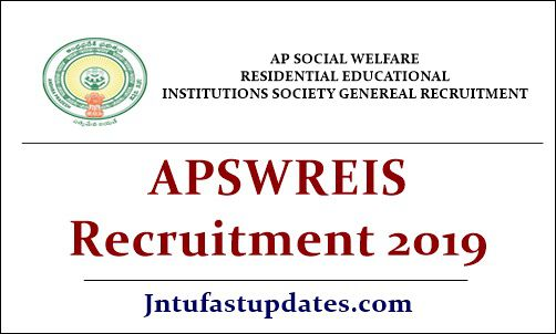APSWREIS Recruitment 2019