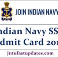 Indian Navy SSR Admit Card 2019