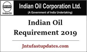 Indian Oil Requirement 2019