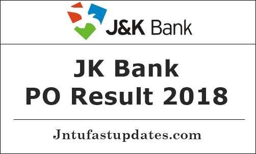 JK Bank PO Result 2018