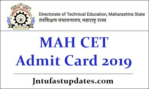 MAH CET Admit Card 2019