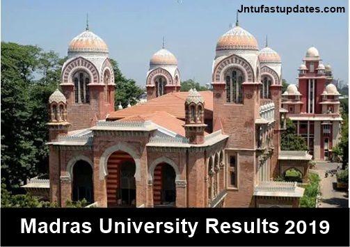 Madras University Results 2019