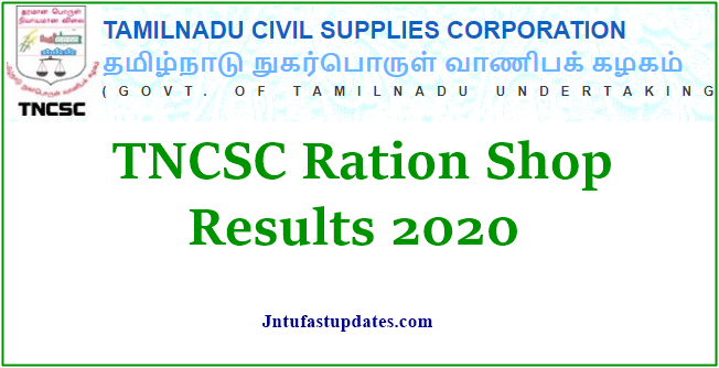TNCSC Ration Shop Results 2020