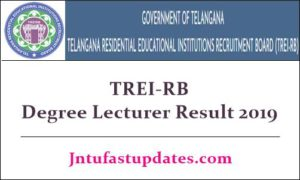 TREIB Degree Lecturer Result 2019