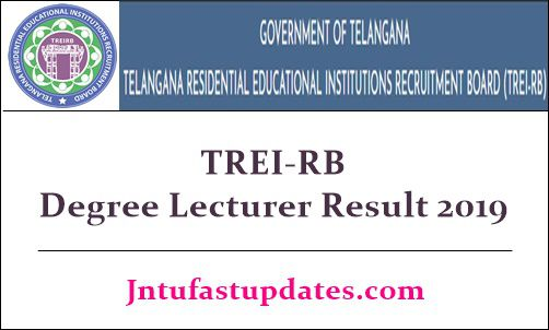 TREIB Degree Lecturer Result 2019