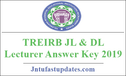 TREIRB JL And DL Lecturer Answer Key 2019