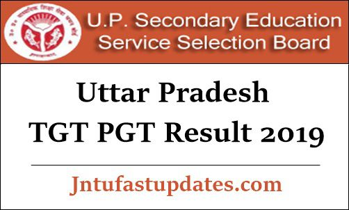 UP TGT PGT Result 2019