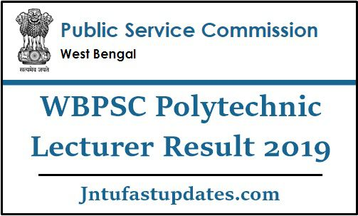 WBPSC Polytechnic Lecturer Result 2019