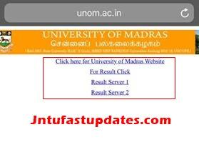 madras university results nov 2018