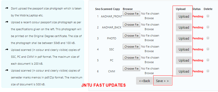 Application pdf 2012 anantapur convocation jntu form