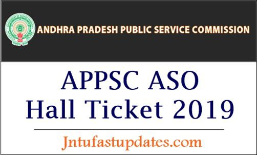 APPSC ASO Hall Ticket 2019