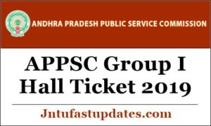 APPSC Group I Hall Ticket 2019