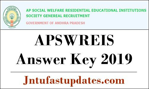 APSWREIS Answer key 2019
