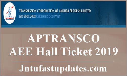 APTRANSCO AEE Hall Ticket 2019