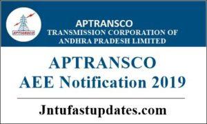APTRANSCO AEE Notification 2019
