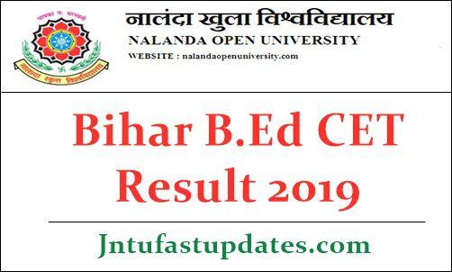 Bihar B.Ed CET Result 2019