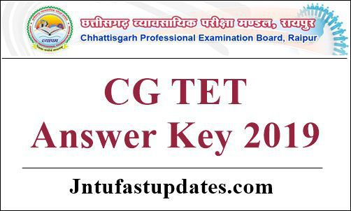 CG TET Answer Key 2019