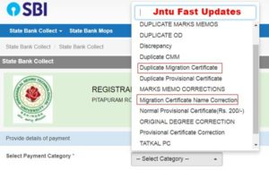 Duplicate Migration Certificate or name correction