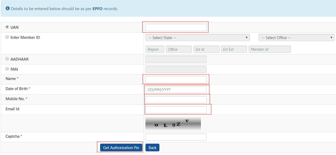 How to Register Mobile Number in EPF Account