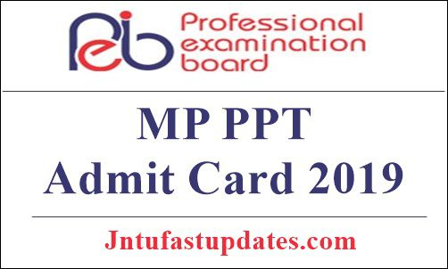 MP PPT Admit Card 2019
