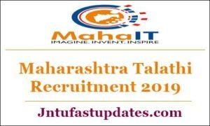 Maharashtra Talathi Recruitment 2019