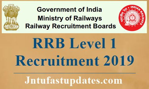 RRB Level 1 Recruitment 2019